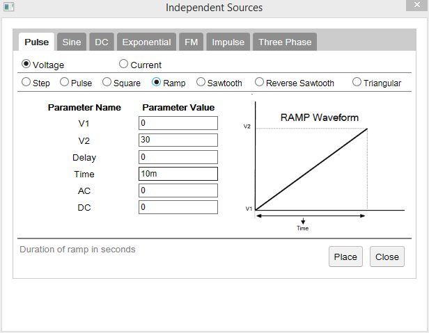 PSpice simulations: How to plot the transfer function of any